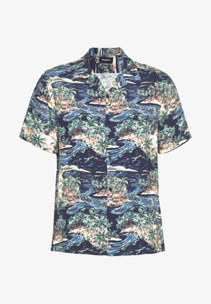 CHEMISE TROPICAL PRINT - Camicia - navy/blue