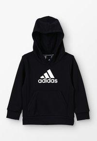 adidas Performance - ESSENTIALS SPORTS INSPIRED HOODED - Kapuzenpullover - black/white - 0
