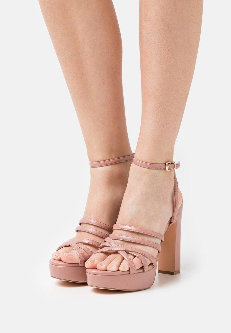 Even&Odd Wide Fit - Platform sandals - light pink