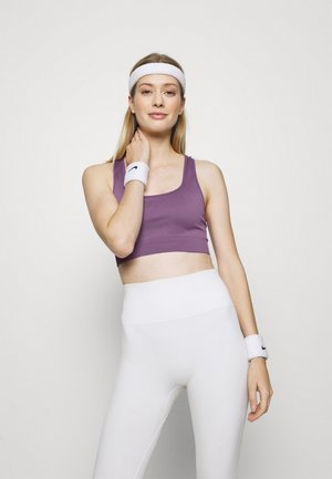 CUT OUT BACK SEAMLESS SPORTS BRA - Sports bra - purple