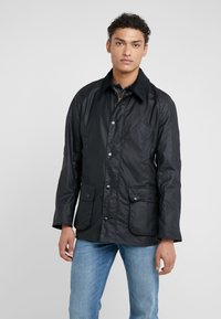 Barbour - ASHBY WAX JACKET - Summer jacket - navy - 0
