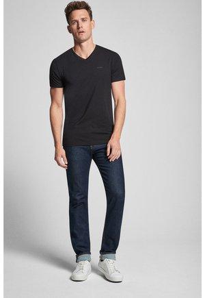 2ER-PACK MODAL COTTON STRETCH - T-shirt basic - black