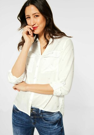 MIT FOLIENPRINT - Button-down blouse - weiß