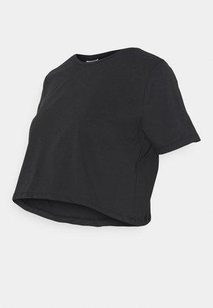 PCMRINA CROP  - Basic T-shirt - black