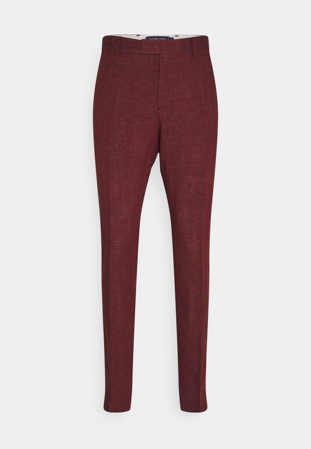 FORMAL TAILORED TROUSERS - Pantalon - dark red