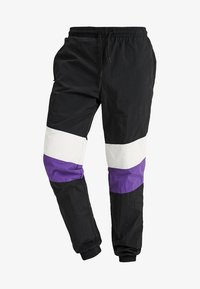 Urban Classics - CRINKLE TRACK PANTS - Tracksuit bottoms - black/white/ultraviolet - 4
