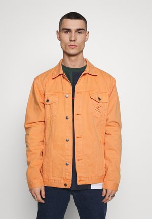 JACKET - Denim jacket - coral