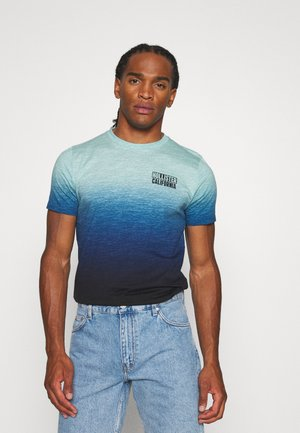 OMBRE LOGO - Print T-shirt - teal to navy ombre