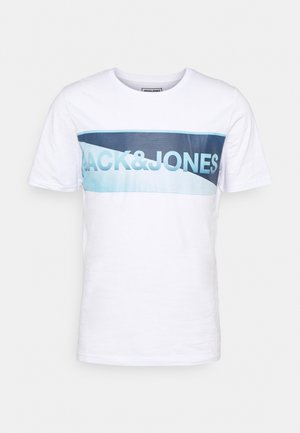 JCOJENSON TEE CREW NECK - T-Shirt print - white