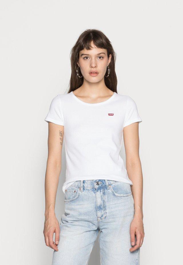 TEE 2 PACK - Basic T-shirt - white/mineral black