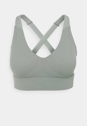 WORKOUT TRAINING CROP - Medium support sports bra - steely shadow