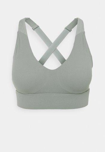 WORKOUT TRAINING CROP - Medium support sports bra - steely shadow