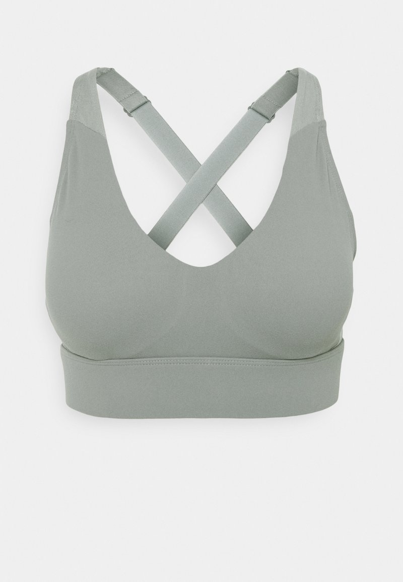 Cotton On Body - WORKOUT TRAINING CROP - Medium support sports bra - steely shadow