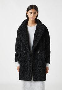 PULL&BEAR - Winter coat - mottled black - 0