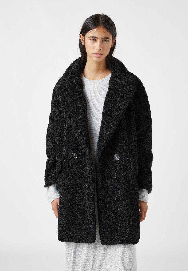 PULL&BEAR - Winter coat - mottled black