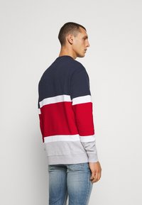 Tommy Jeans - RETRO COLORBLOCK HIGH CREW - Sweatshirt - twilight navy/multi - 2