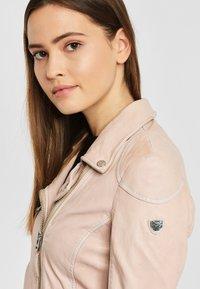Gipsy - PGG LABAGV - Leather jacket - pink - 3
