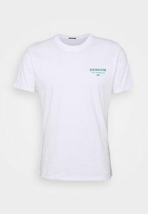 ADAMS SLIM TEE - Print T-shirt - white