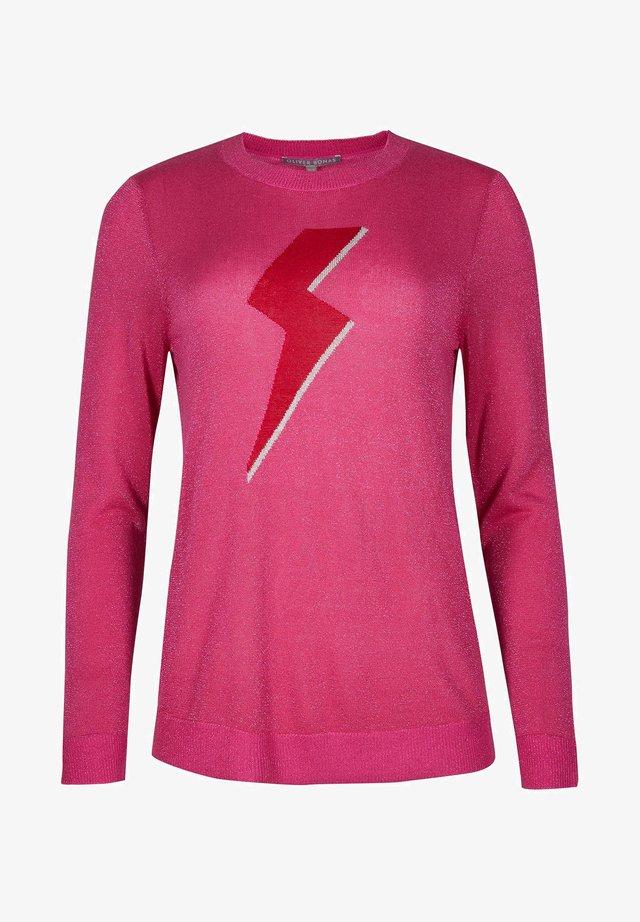 SHIMMER LIGHTNING BOLT  - Sweatshirt - pink