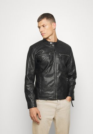 PADDY WASH - Veste en similicuir - black