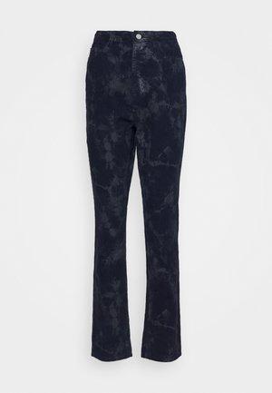 TIE DYE WRATH - Trousers - deep blue