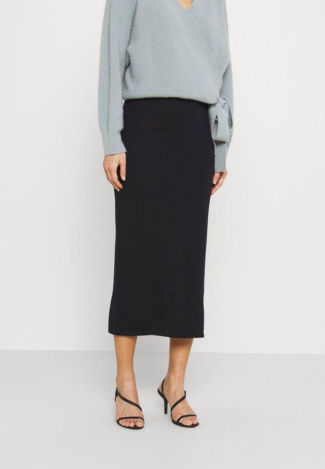 ROSNY - Pouzdrová sukně - navy