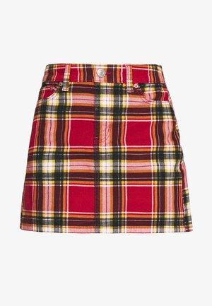 MINI LEPORAD - Áčková sukně - preppy red