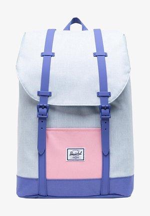 Rucksack - ballad blue pastel crosshatch/candy pink/dusted peri