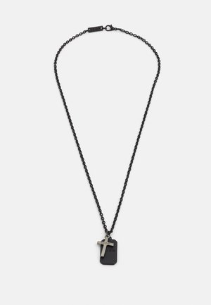 CROSS AND DOG TAG NECKLACE - Necklace - black