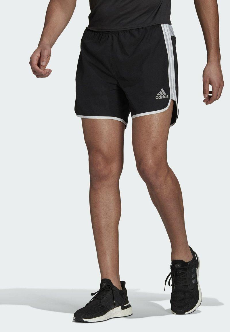 adidas Performance - Marathon 20 SHORT RESPONSE AEROREADY RUNNING REGULAR SHORTS - Träningsshorts - black