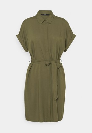 VMSIMPLY EASY SHIRT DRESS - Shirt dress - ivy green