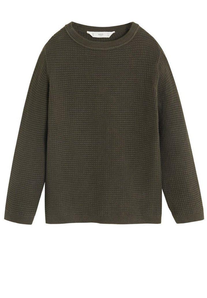 Große Förderung Mango STRICKPULLOVER AUS BIO-BAUMWOLLE - Strickpullover - khaki | Damenbekleidung 2020