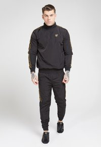 SIKSILK - QUARTER ZIP FUNNEL TAPE OVERHEAD - Summer jacket - black/gold - 1