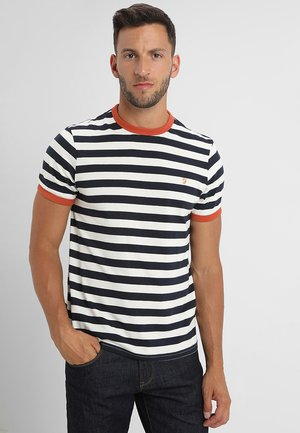 BELGROVE STRIPE TEE - Print T-shirt - true navy