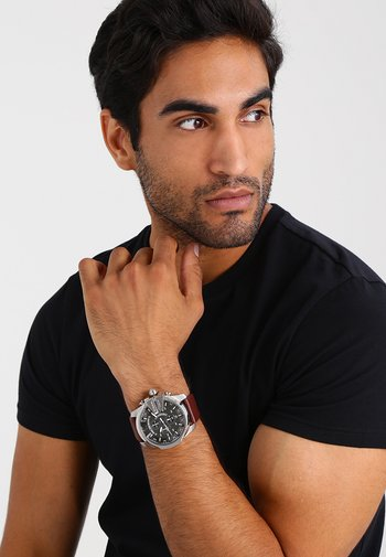 Zegarek chronograficzny - dark brown