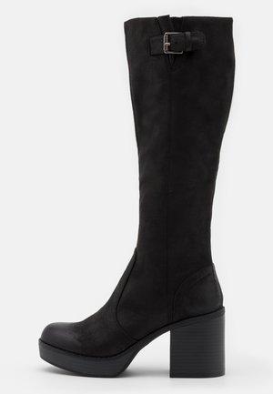 NEWSESENTA - Platform boots - black