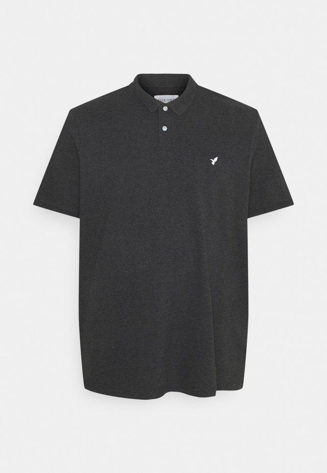 Polo - mottled dark grey