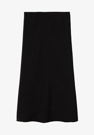 FALDA MIDI  - A-line skirt - black