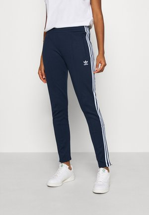 PANTS - Tracksuit bottoms - collegiate navy/white
