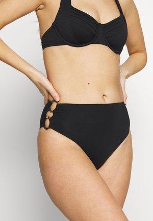 ACTIVERING SIDE HI RISE - Bikini bottoms - black