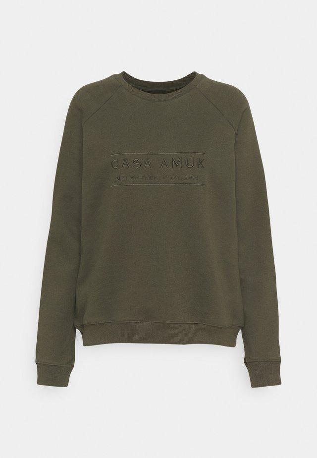 HERITAGE LOGO - Sweatshirt - olive