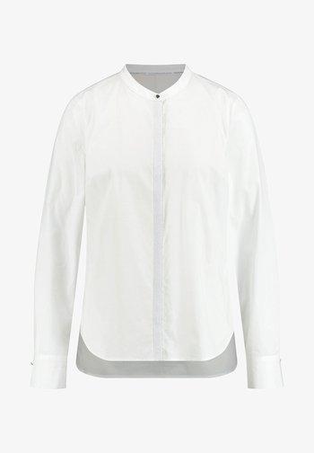MIT GLITZER-KNOPFLEISTE - Button-down blouse - offwhite
