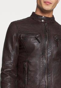 Oakwood - CASEY  - Leather jacket - wine - 5