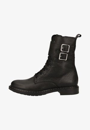 Lace-up ankle boots - black 9900