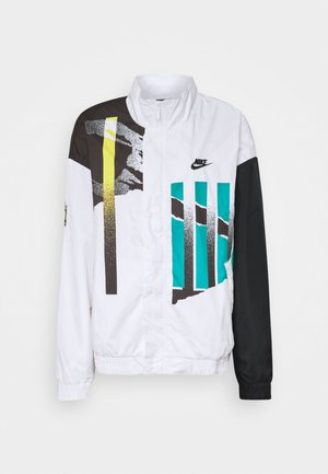 JACKET - Training jacket - white/black/neo teal