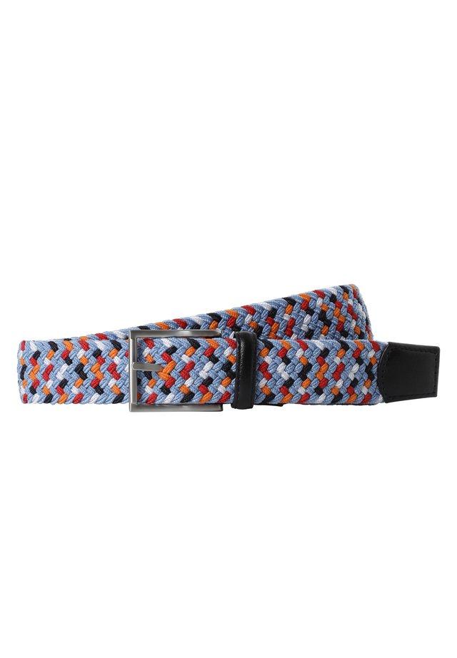Braided belt - hellblau orange