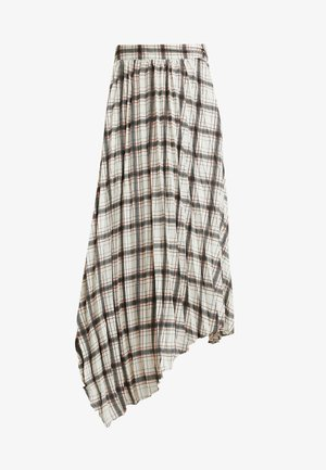 NEUTRAL CHECK PLEATED SKIRT - Pleated skirt - cream