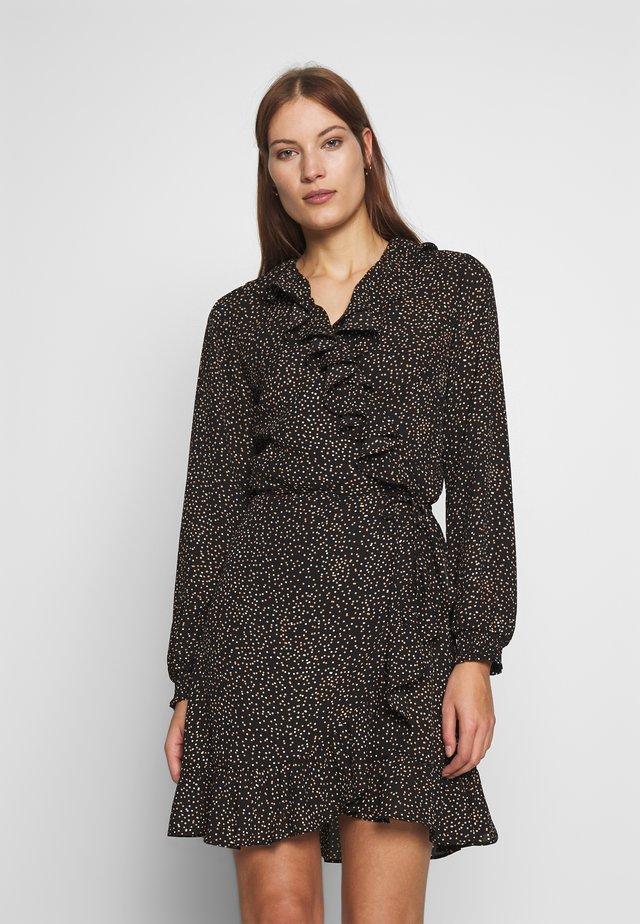 IMOGENE WRAP DRESS - Vestito estivo - black