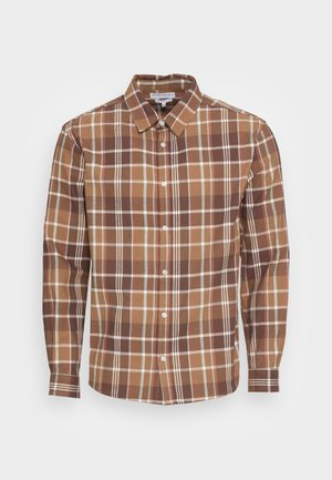 FLANNEL CHECK OVER - Shirt - tan