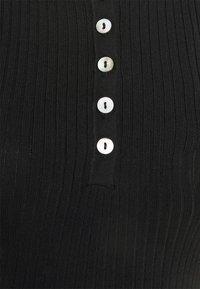 Anna Field - QUARTER SLEEVES POLO MINI DRESS FITTED - Shift dress - black - 5